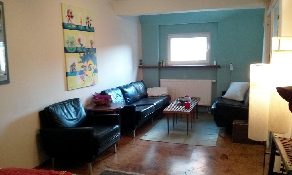 Wohnraum für Messegäste im Level 4