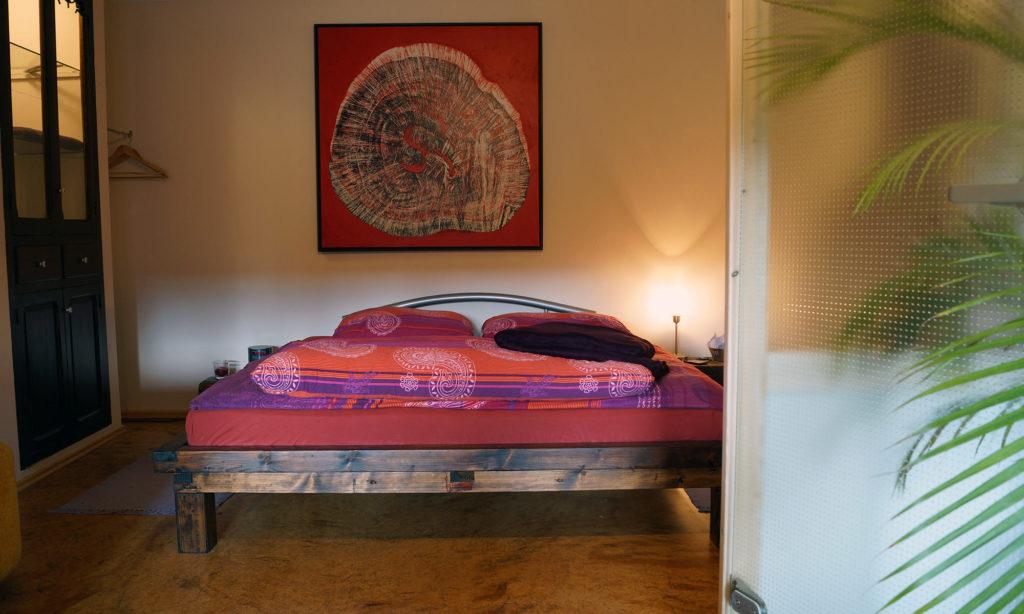 Schlafzimmer im Level 4 Gästehaus