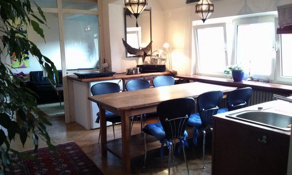 Küchenbereich im Apartment Nürnberg