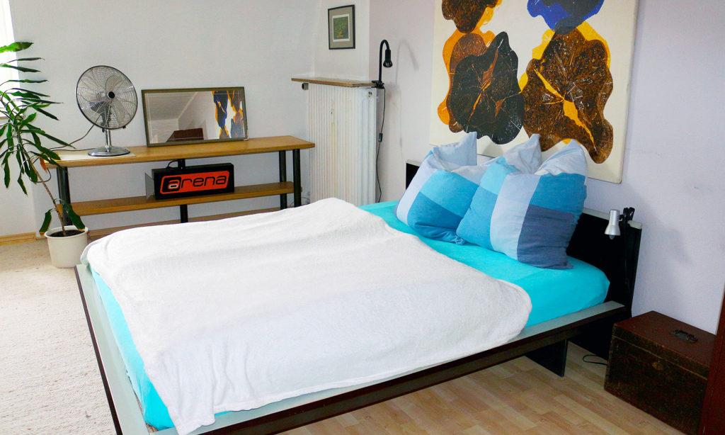 Doppelbett im Little 4 - Suite #1